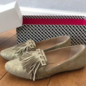 Diane Von Furstenbrug Gold Flat/ Loafer Shoe
